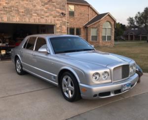 Hail Damaged Bentley
